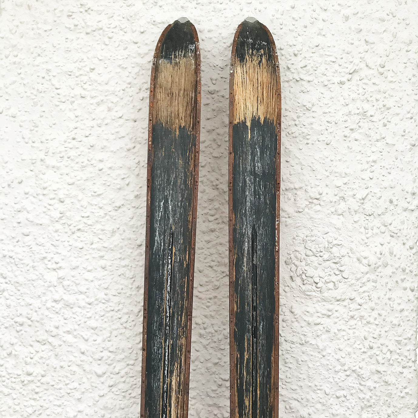 Good looking pair of Vintage Wooden Skis by ESS - SHOP NOW - www.intovintage.co.uk