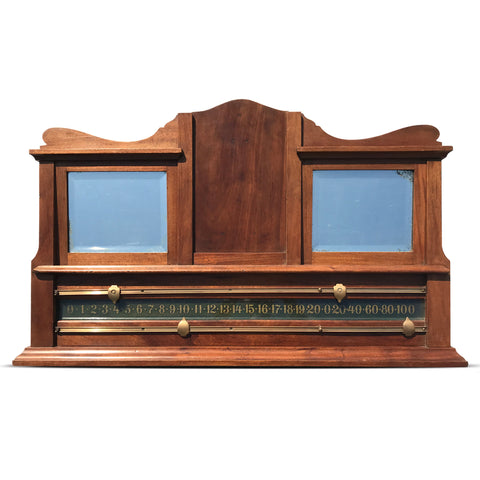 Substantial Edwardian snooker scoreboard. Find this and other Beautiful Vintage items for you home at Intovintage.co.uk
