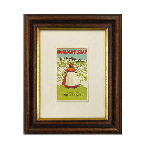 Vintage framed print advertising Sunlight Soap. Find Art, Antique Etchings & other Antique Prints at IntoVintage.co.uk