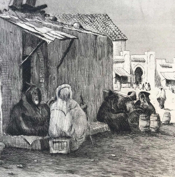 Vintage etched scene of Tangier by Dr D.Donald (1923). Find Antique Etchings & other Antique Prints at IntoVintage.co.uk