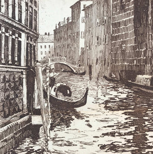 Period etching of Venice by D.Denala