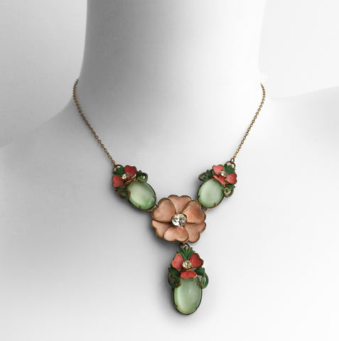 Vintage Flower Necklace