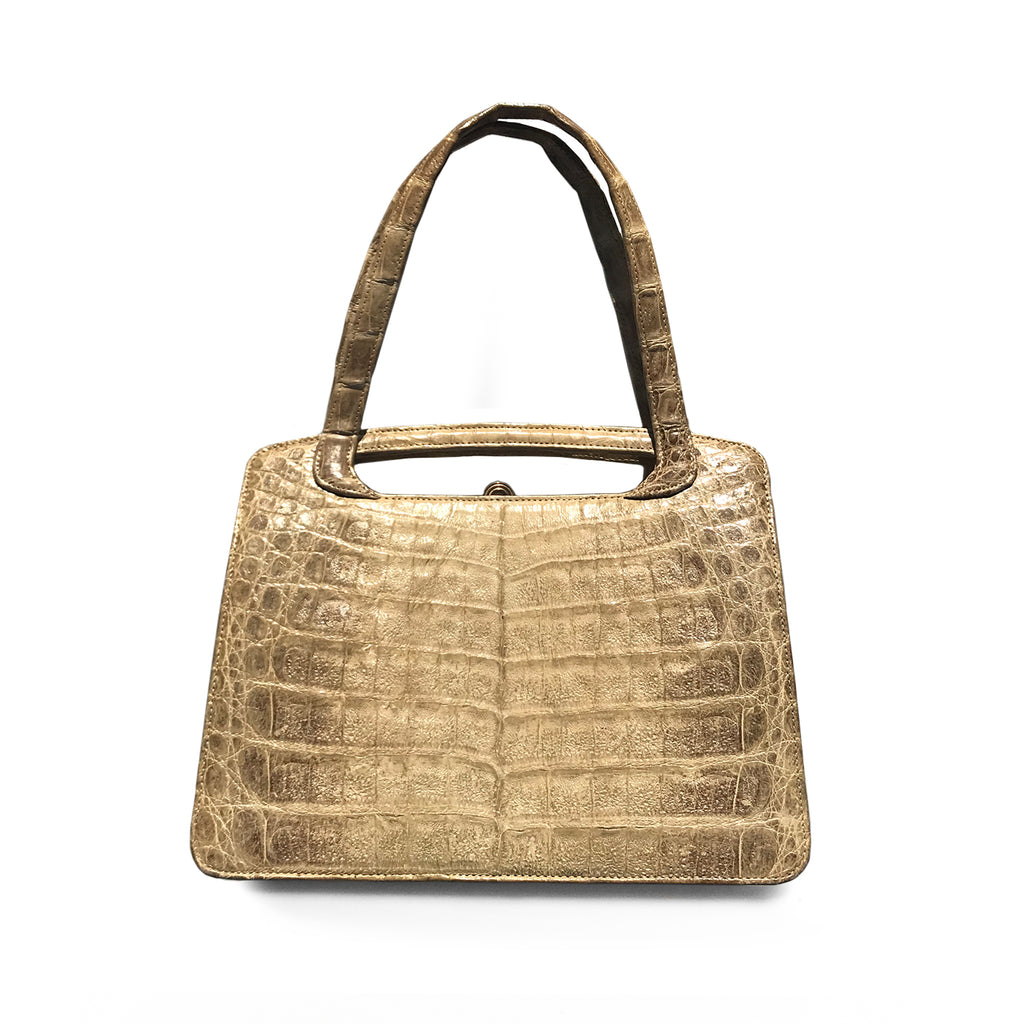 Vintage Cream Croc Handbag. Find this and other Beautiful Vintage Bags & Purses for sale at Intovintage.co.uk.