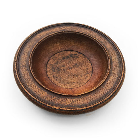 Solid oak church collection plate C.1930 - BUY NOW - www.intovintage.co.uk