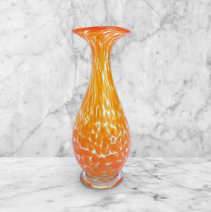 Yellow Spatter Glass Vase