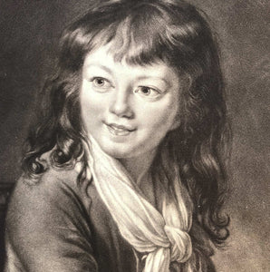 Period Etching of a Young Boy
