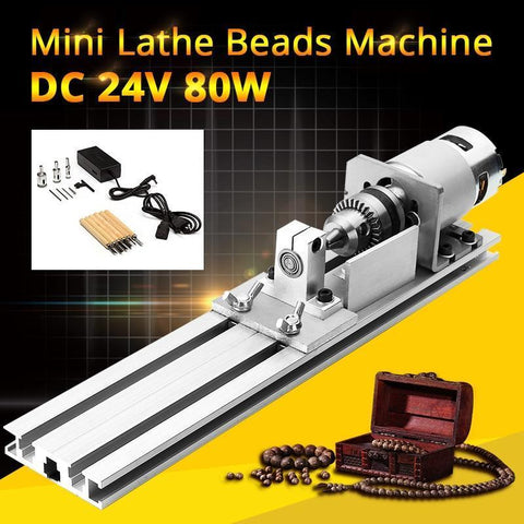 Image of DIY Portable Woodworking Mini Lathe Drill