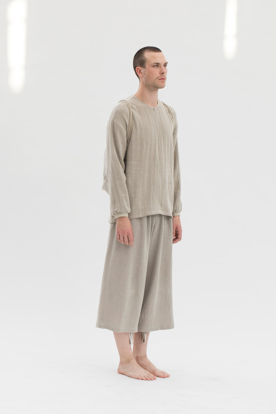 RAW Men Wide-leg Pants Natural