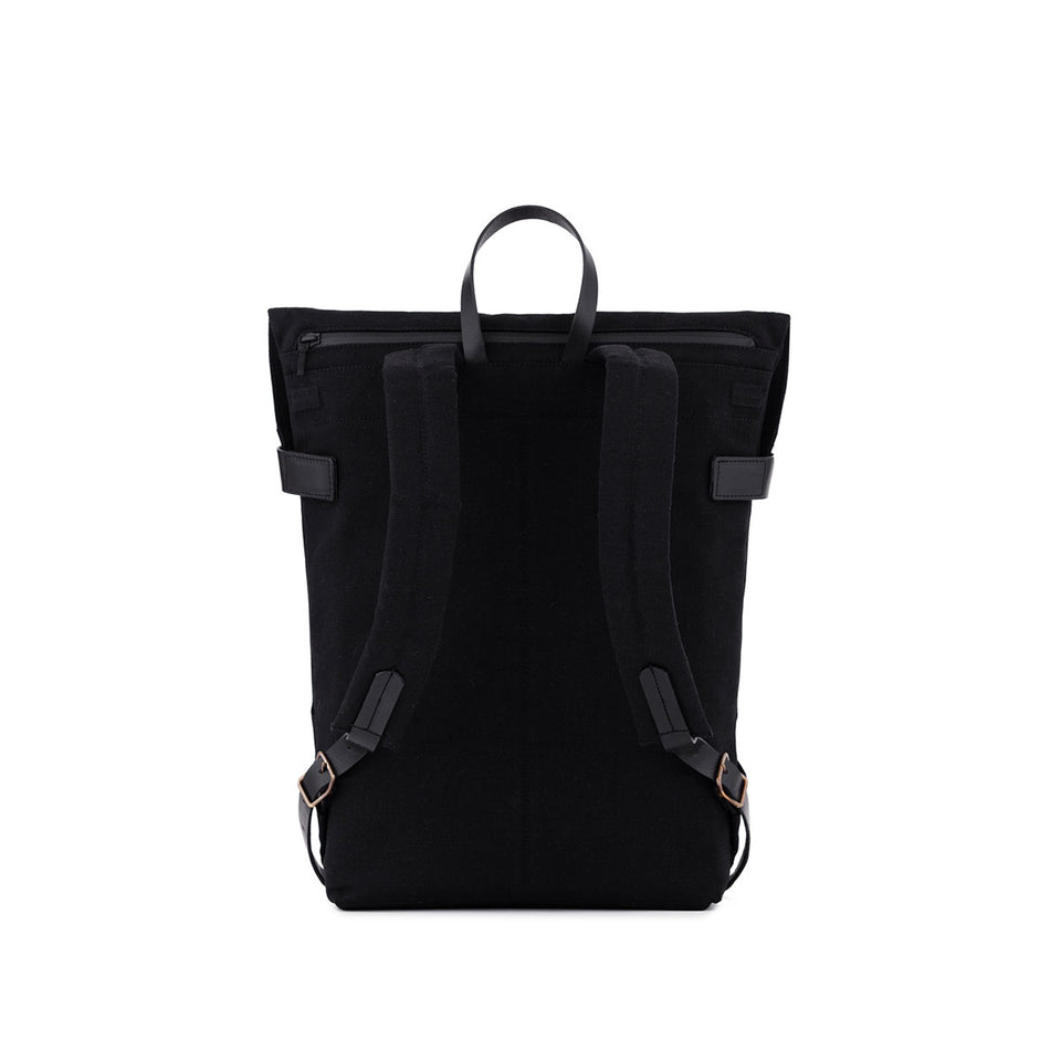 Thisispaper Atom Backpack Solid Black