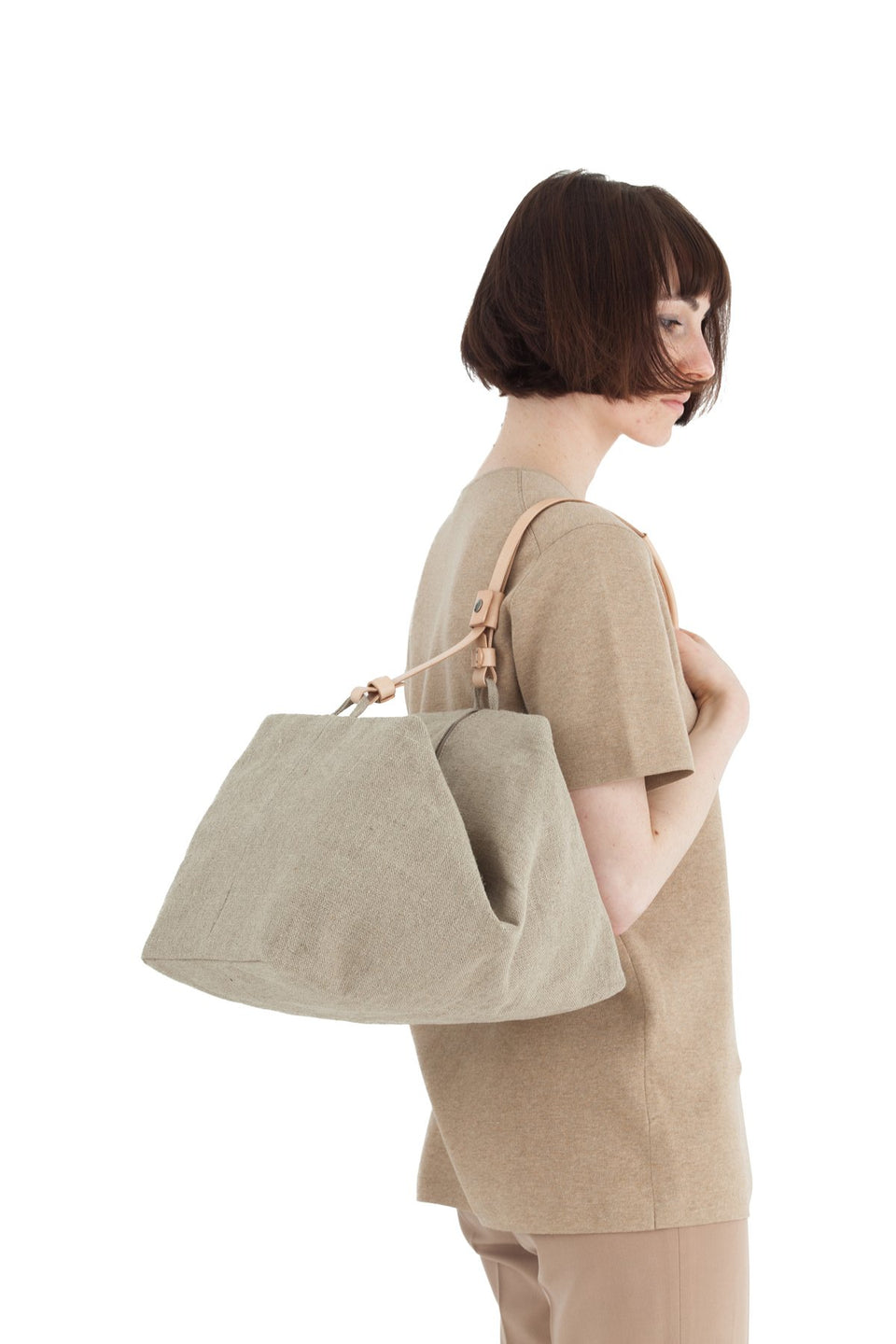 Thisispaper Parachute Bag Raw Natural
