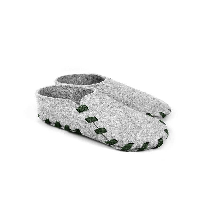 Lasso Classic Slippers Grey&Forest Green