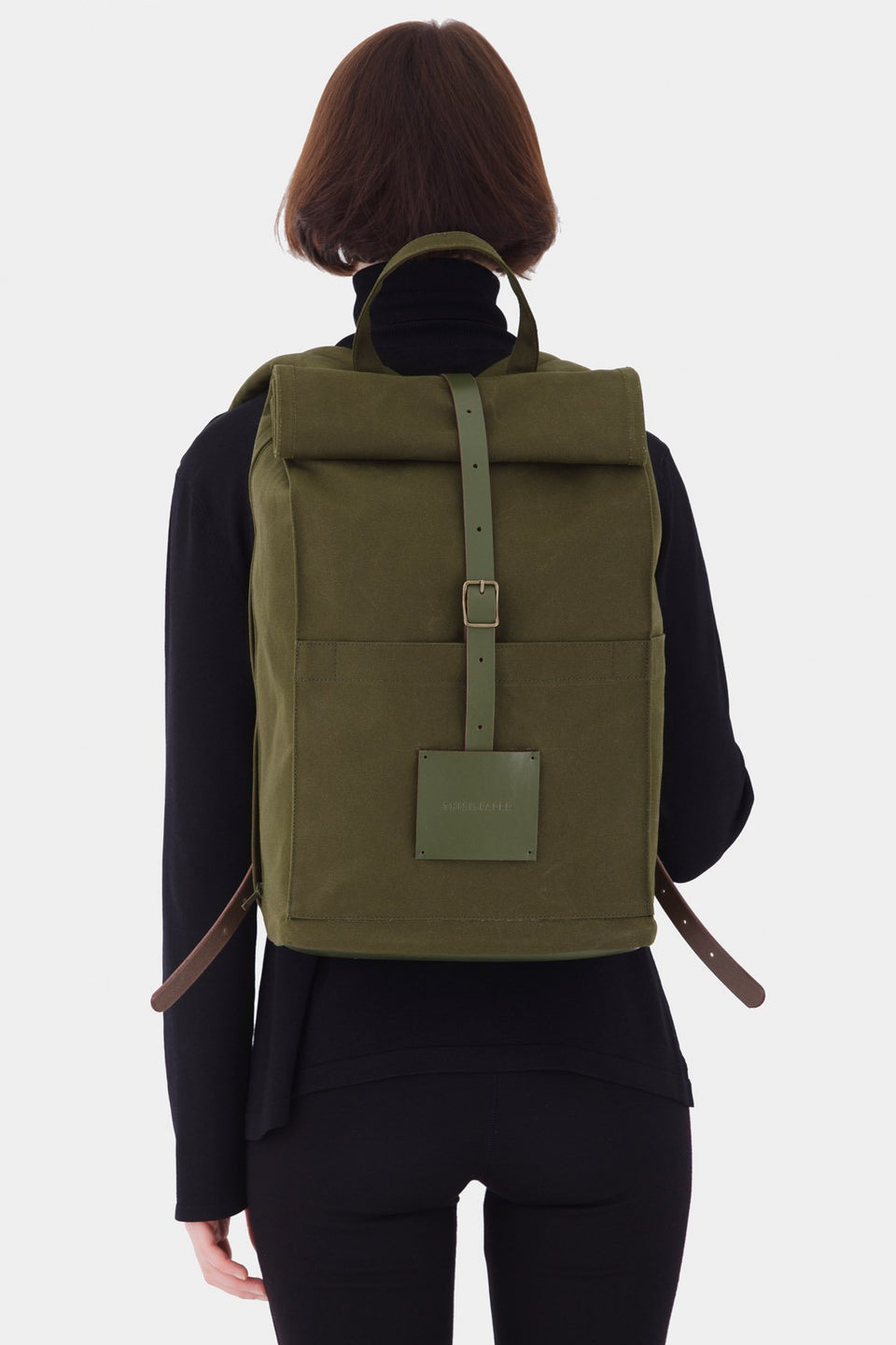 Top Roll Backpack Army Green