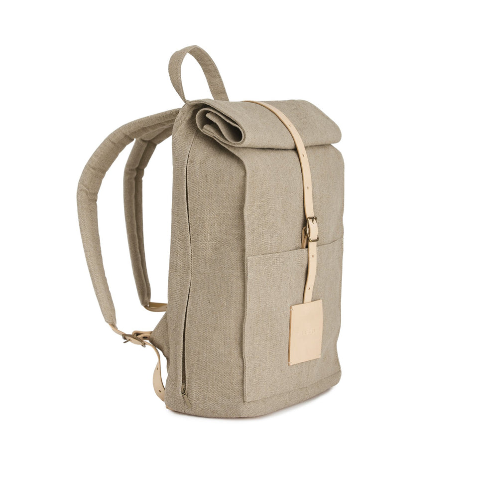 Top Roll Backpack Raw Natural