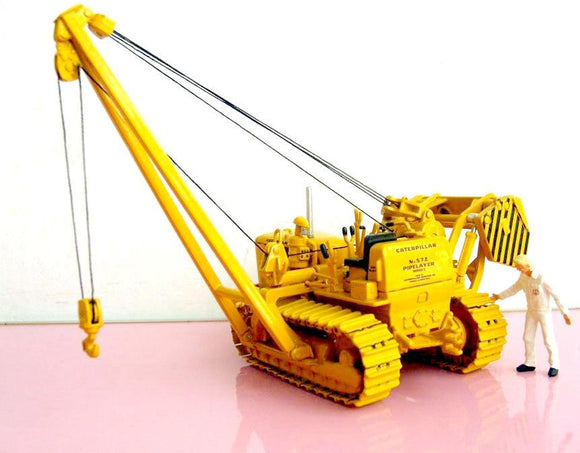 55210 Cat 527C Track-Type Pipelayer - Tiende Tubos Escala 1:50 Tractor De Orugas
