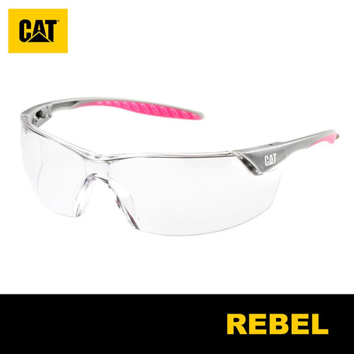 Lentes de Seguridad Cat Rebel 100 Protección UV Transparente