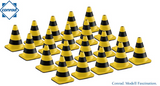 Kit De 20 Conos Seguridad Amarillo Con Negro Escala 1:50 Worker
