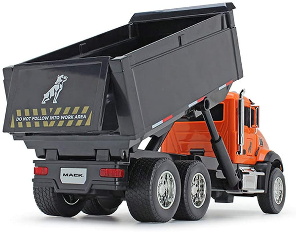70-0597 Volquete Mack Granite Color Naranja y Negro Escala 1:24