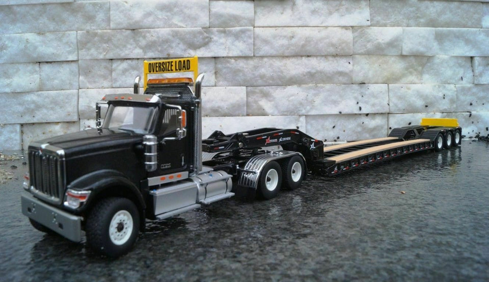 1:50 Cama Baja Negro International Hx520 Tandem Xl 120 - Dm71017 Trailer & Camabaja