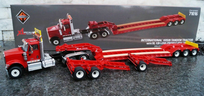 1:50 Cama Baja Rojo International Hx520 Tandem Xl 120 - Dm71016 Trailer & Camabaja