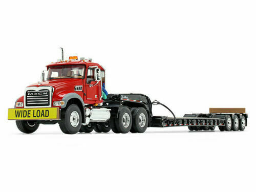50-3117 Cama Baja Mack Granite MP Day Cab in Red and Black Escala 1:50