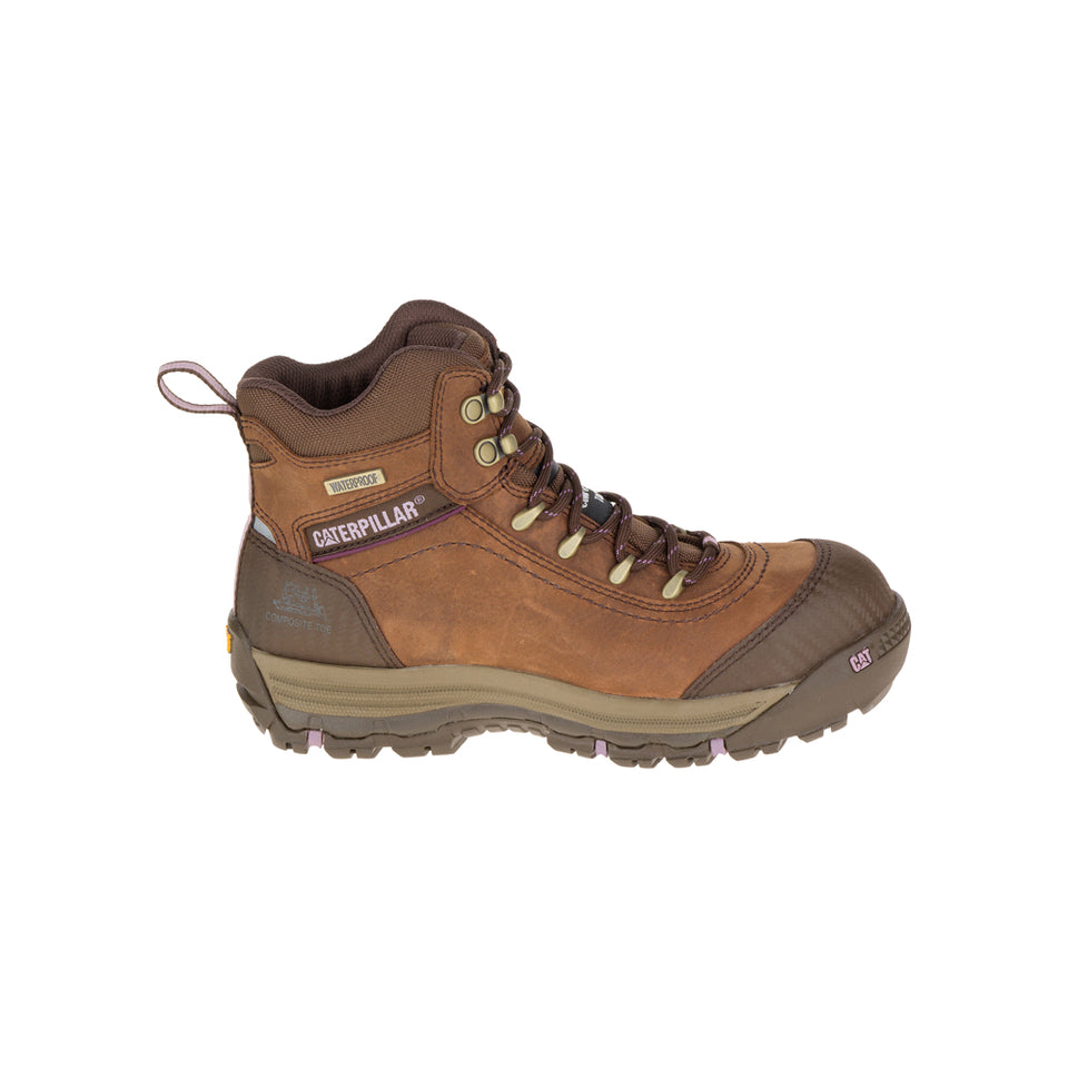 "Zapato Industrial Caterpillar Ally 6"" WP CT Brown P90760"