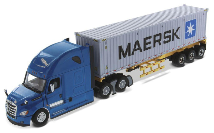 Tracto Azul Freightliner New Cascadia & Container Maersk Escala 1:50