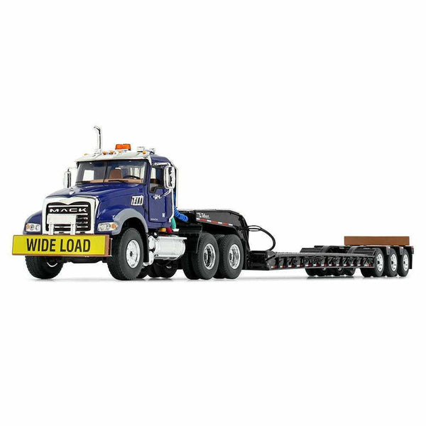 50-3458 Cama Baja Mack Granite MP Day Cab Azul Escala 1:50