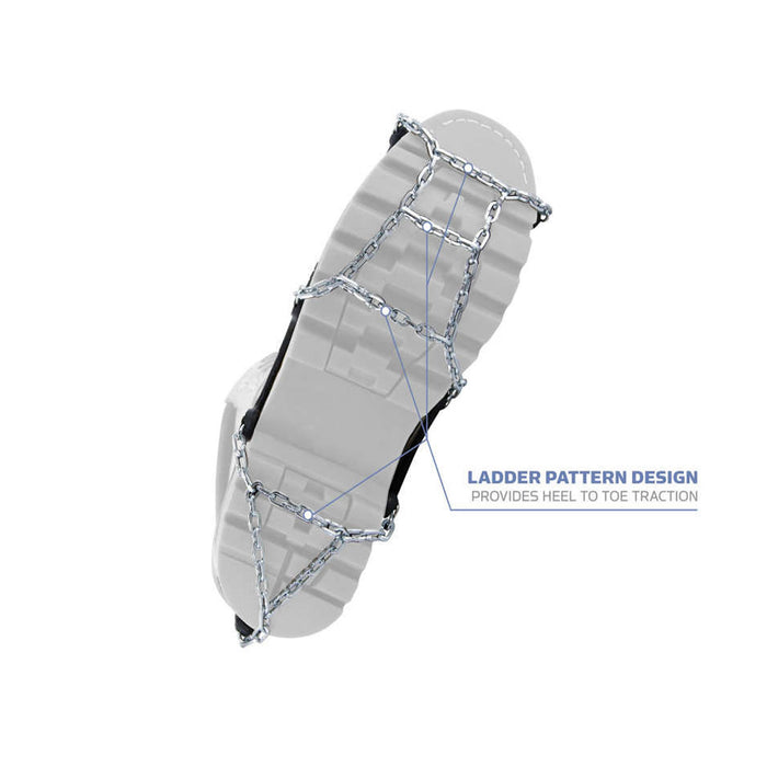 Ladder pattern for all foot grip, Yaktrax Chains from ICEGRIPPER