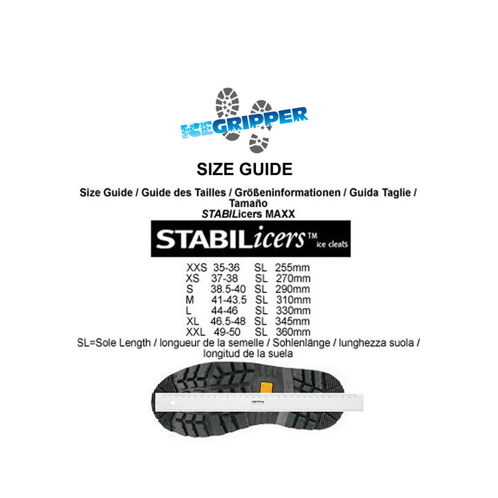 STABILicers Maxx 2 Size Guide