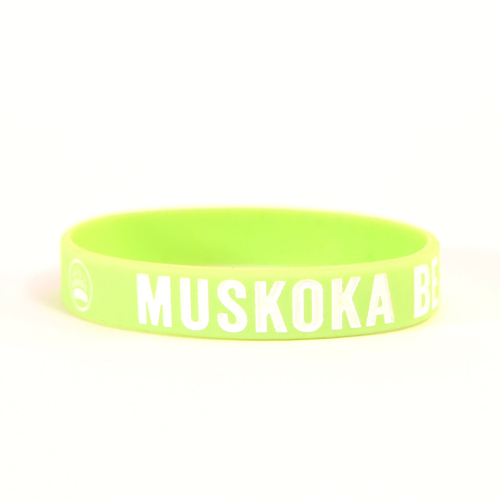 MBW Youth Wristbands in Lime Green