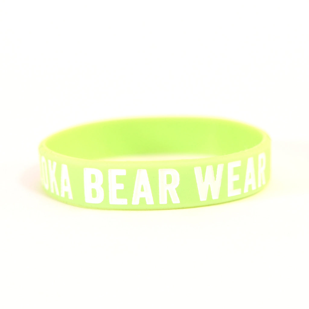 MBW Wristbands in Lime Green
