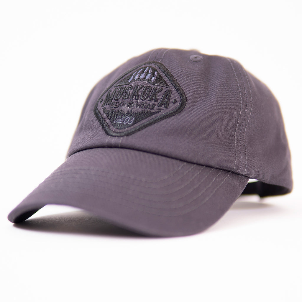 Muskoka Bear Wear - Baseball Cap in Charcoal with Black