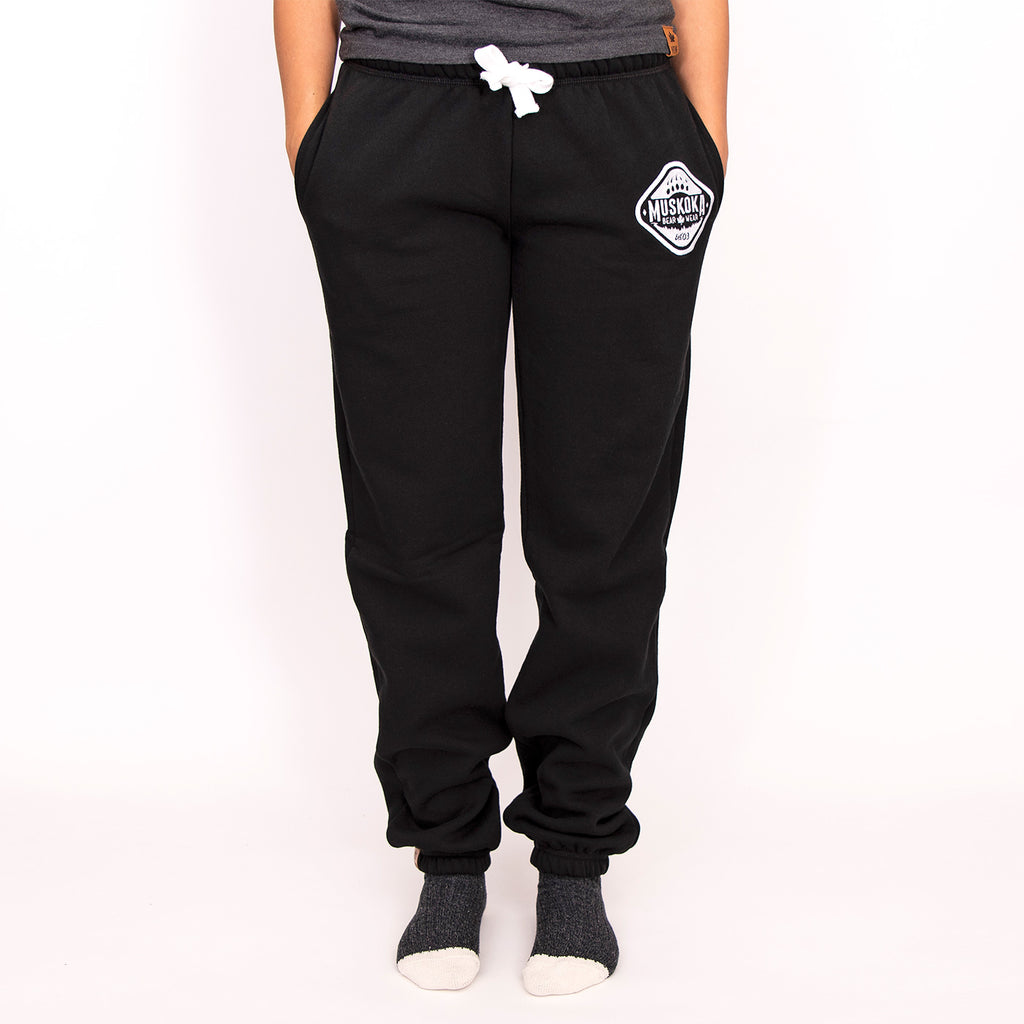 Muskoka Bear Wear – MBW Camp Pants in Black with White
