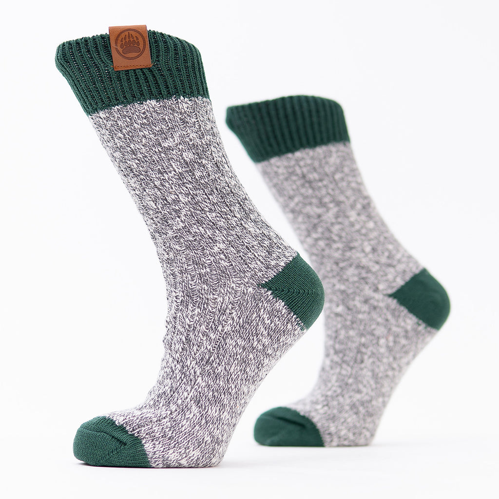 Muskoka Bear Wear – Ladies Socks with Green Band