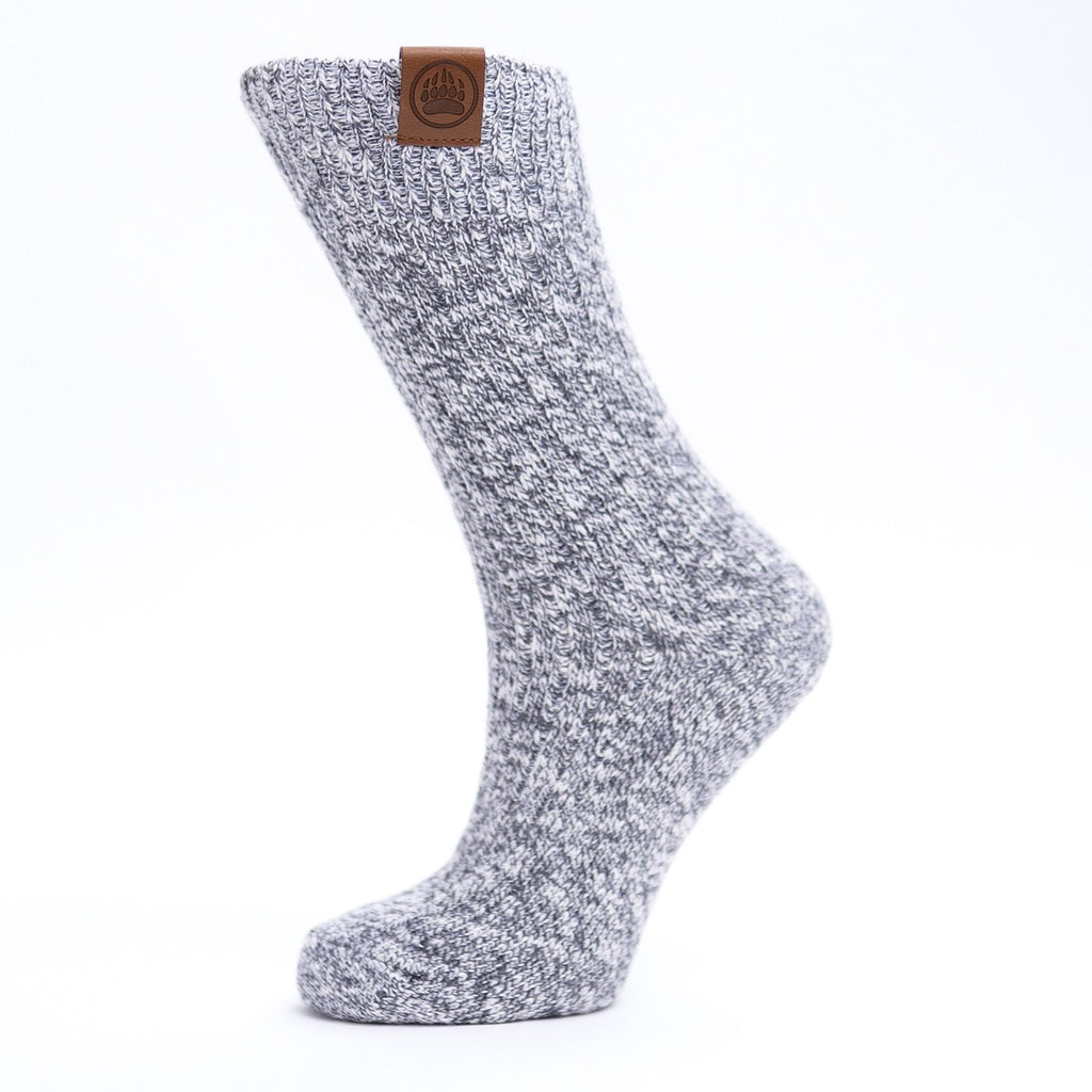 Muskoka Bear Wear – Ladies Socks Grey Mix with No Band