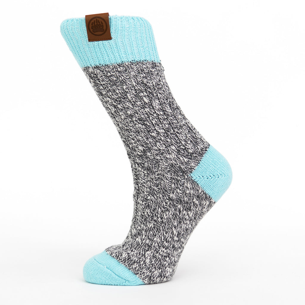 Muskoka Bear Wear – Ladies Socks with Aqua Band