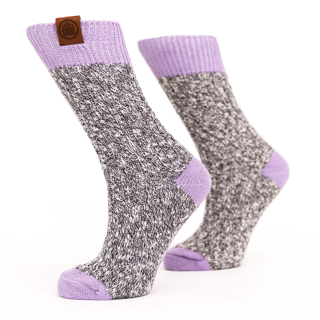 Muskoka Bear Wear – Ladies Socks with Lilac Band