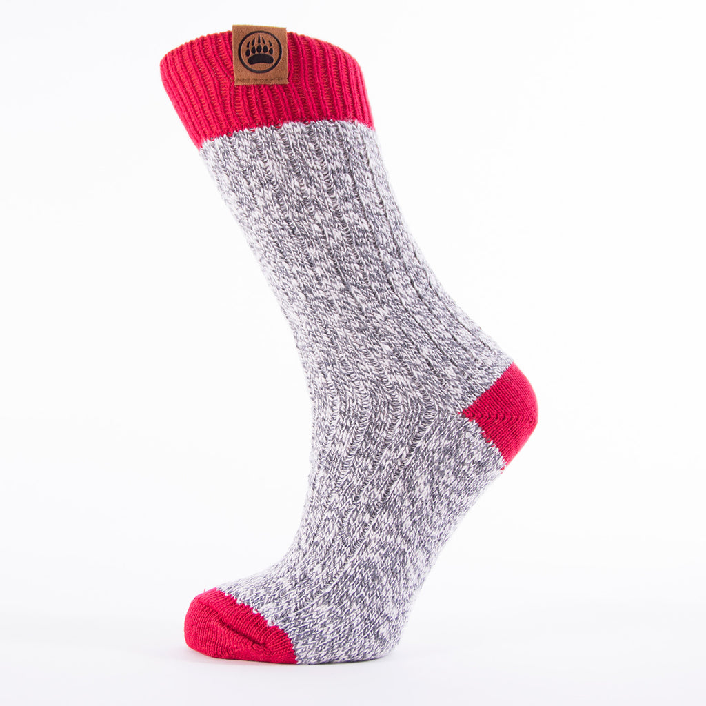 Muskoka Bear Wear – Ladies Socks with Red Band