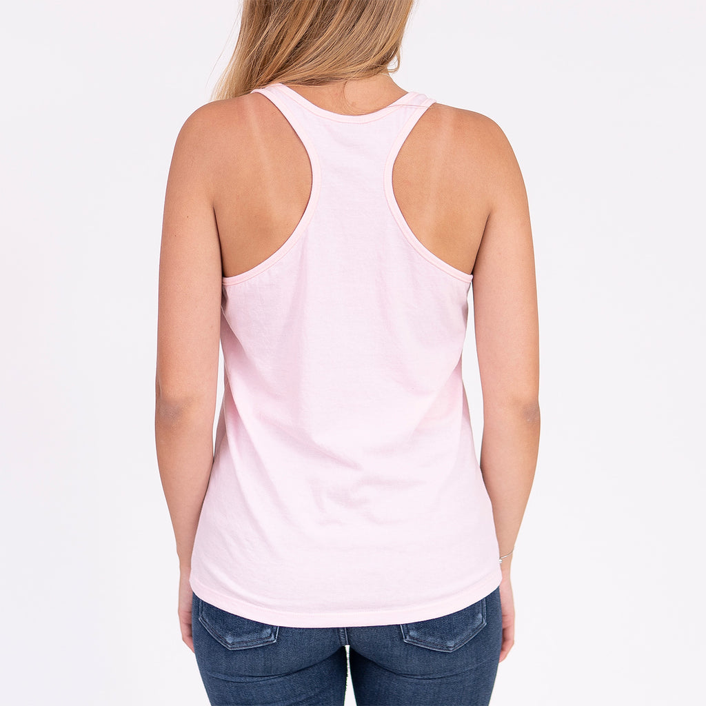 Muskoka Bear Wear – Tank Top in Soft Pink with White
