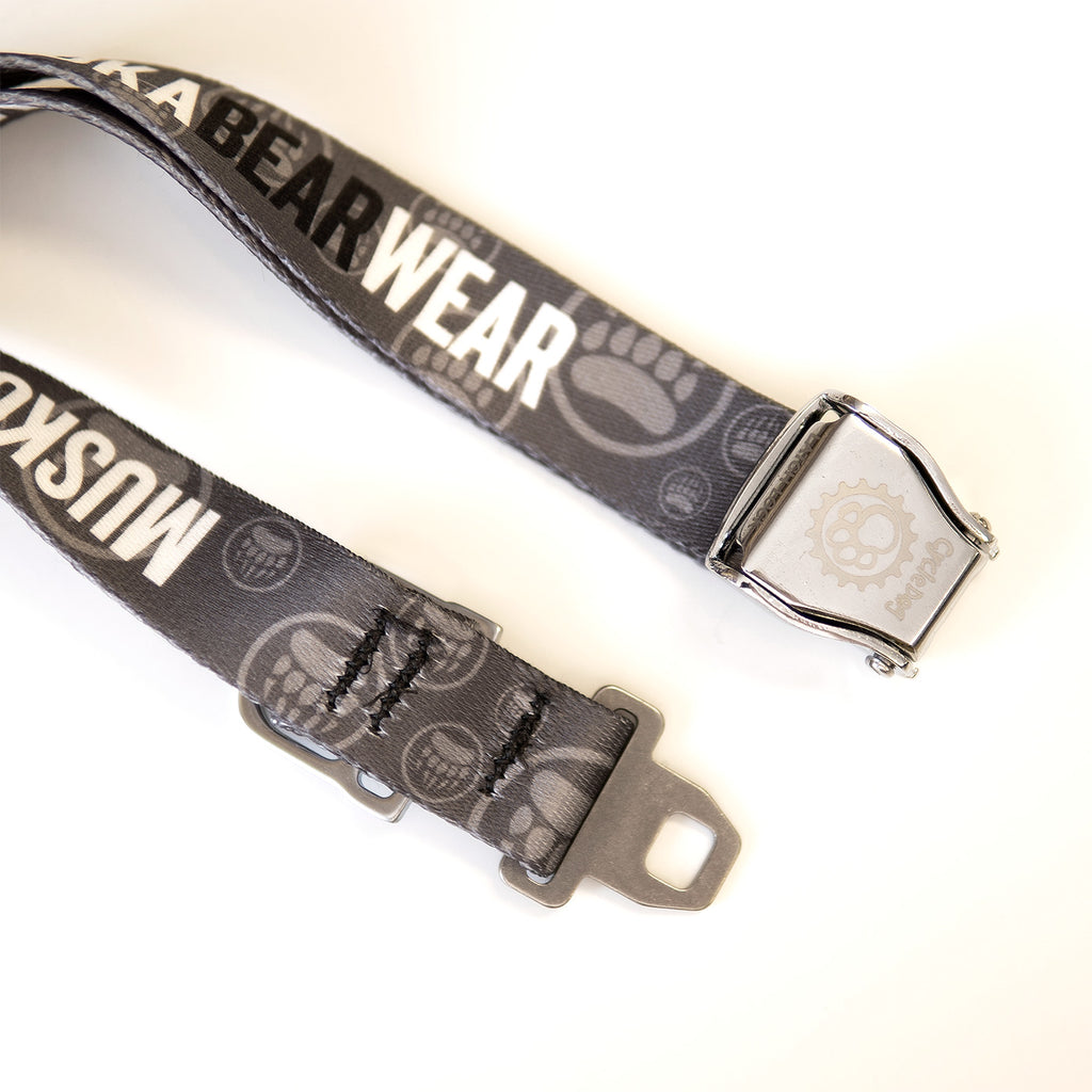 Muskoka Bear Wear – MBW Dog Collar in Charcoal with Black