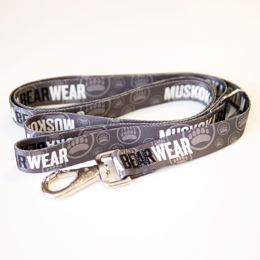 Muskoka Bear Wear – MBW Dog Leashes in Charcoal with Black