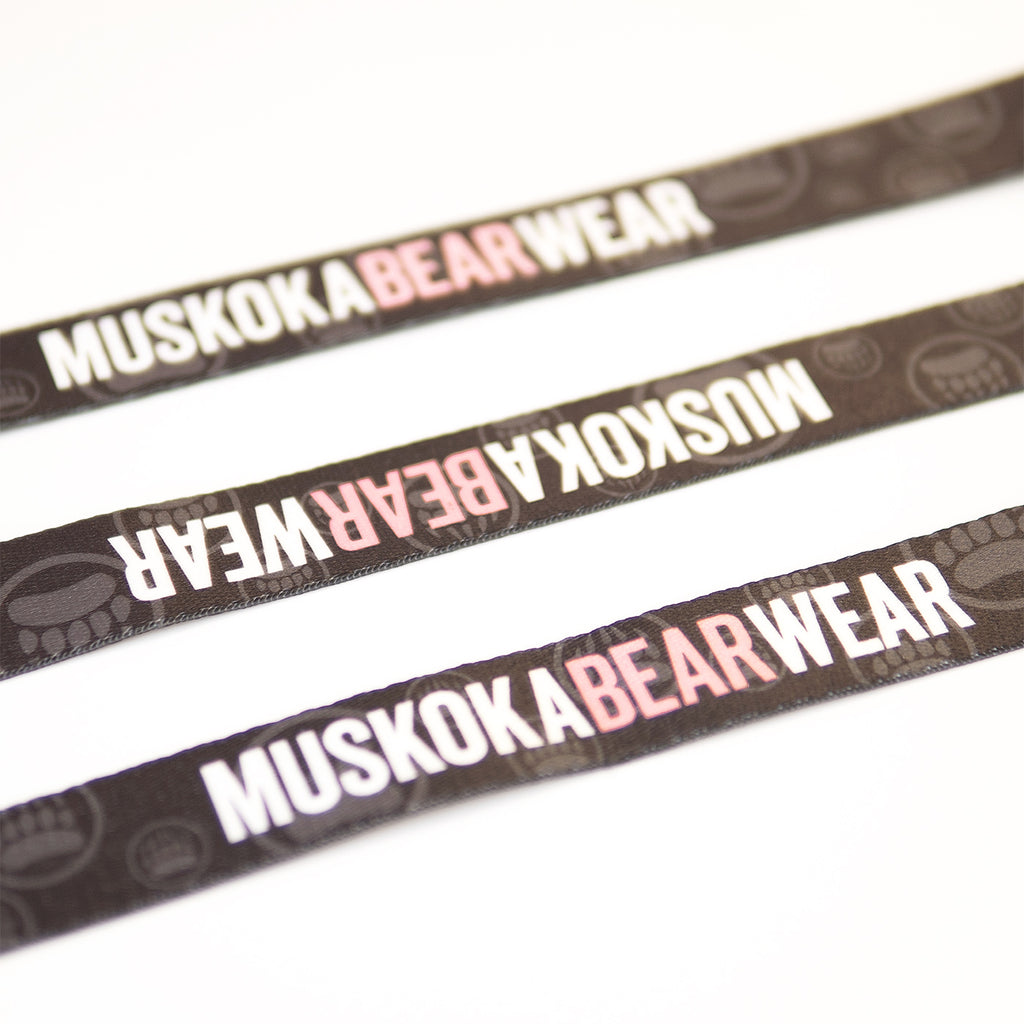 Muskoka Bear Wear – MBW Dog Leashes in Charcoal with Pink