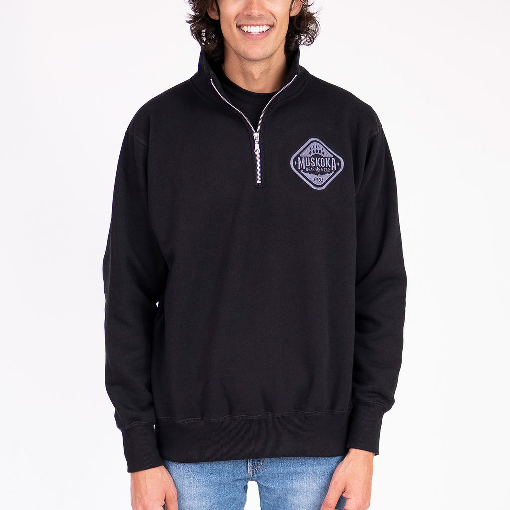 Muskoka Bear Wear – Men's Quarter-Zip in Black