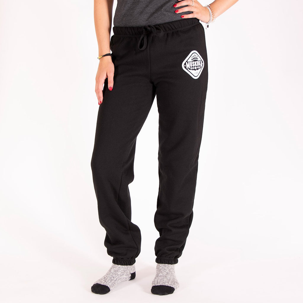 Muskoka Bear Wear – Original Paw Pants in Jet Black with White