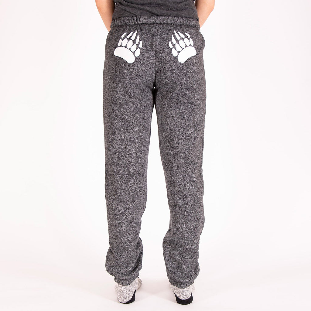 Muskoka Bear Wear – Original Paw Pants in Heather Black with White