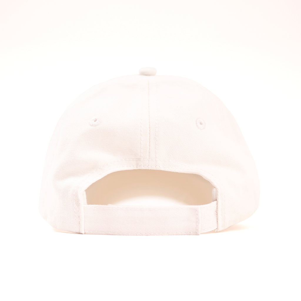 Muskoka Bear Wear – Youth Baseball Cap in White with Pink