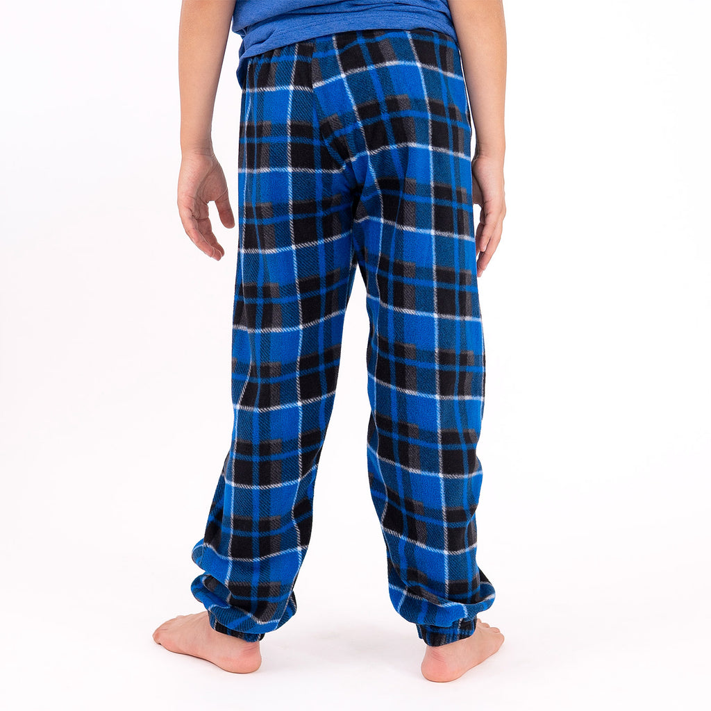 Muskoka Bear Wear – Youth Cottage Comfy Pants in Blue Plaid