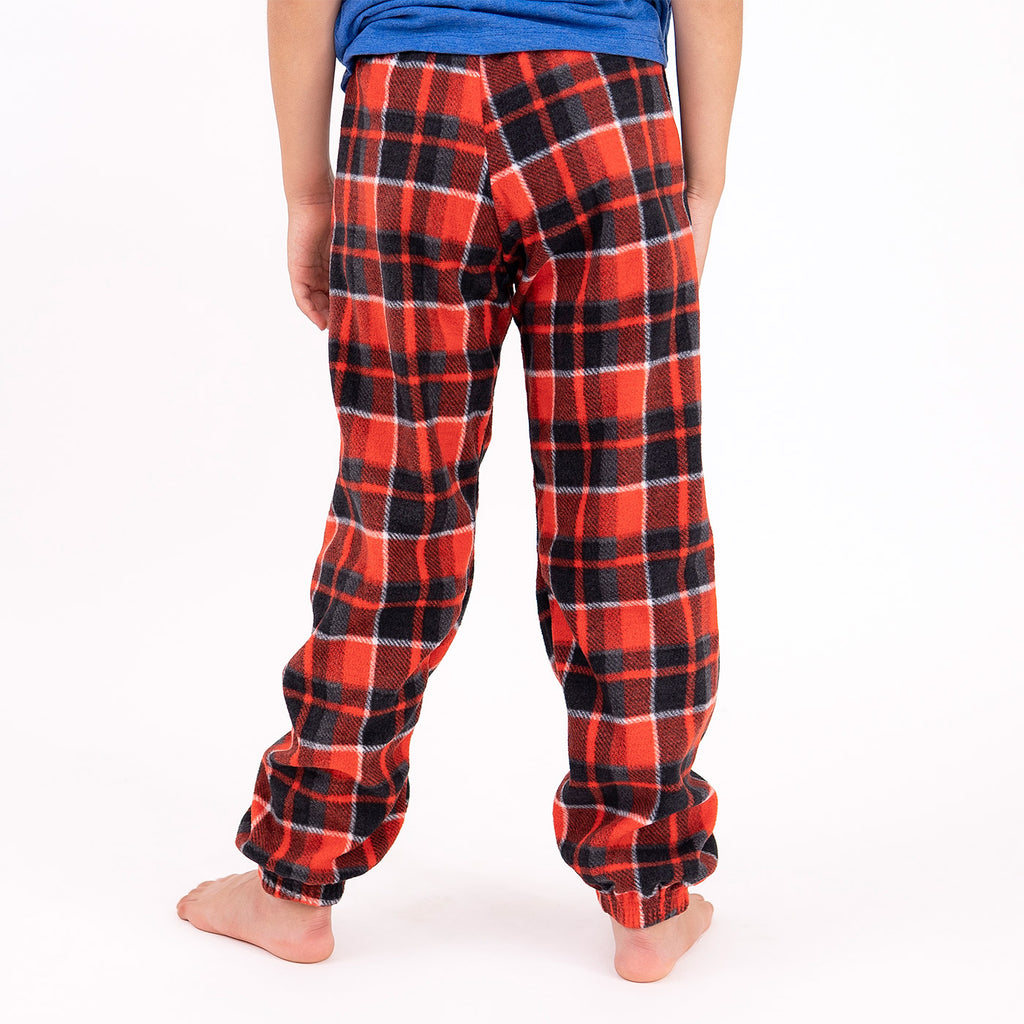 Muskoka Bear Wear – Youth Cottage Comfy Pants in Red Plaid