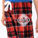 Muskoka Bear Wear - Youth Cottage Comfy Pants in Red Plaid