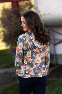 Dusty Blue Floral Pullover